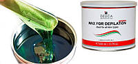 Теплый воск в банке Delica (Италия) Зеленый с алоэ green aloe wax 400 мл