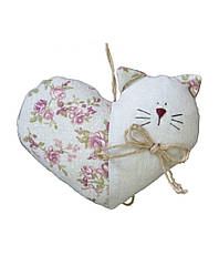 Мягкая игрушка Гранд Презент Котенок-сердце Белая с розовым hubPTtE14635, КОД: 285959