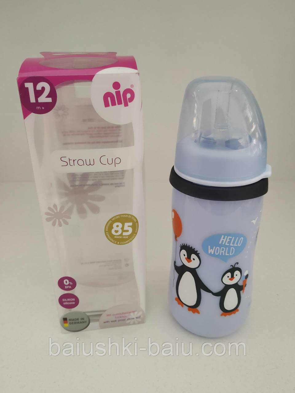 Поильник детский обучающий с трубочкой Straw Cup, 330 ml (12m+), Германия