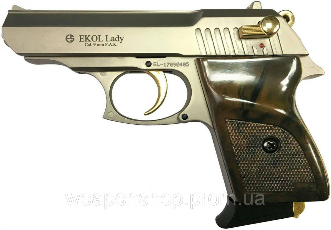 Стартовый пистолет Ekol Lady Satin Gold