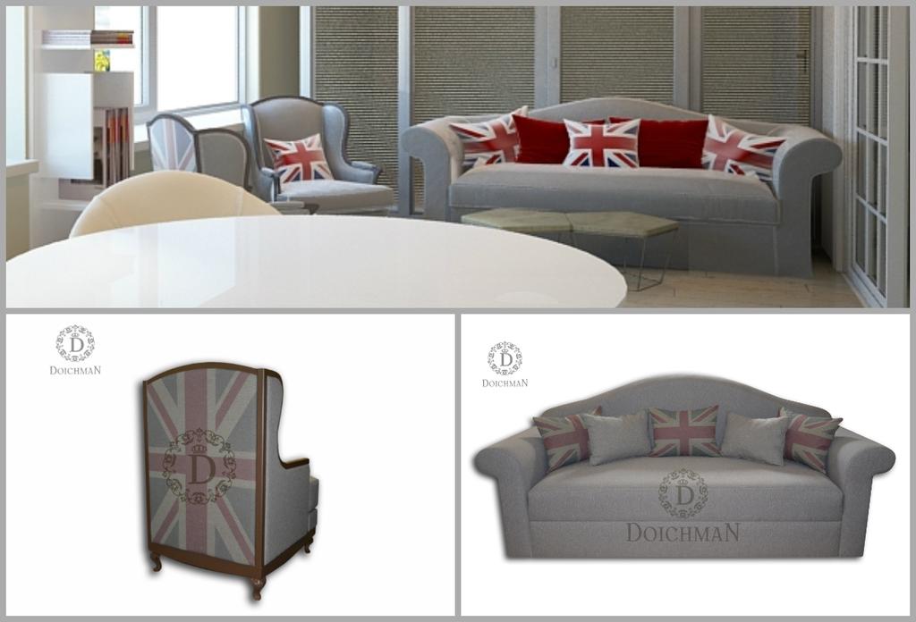Эксклюзивные диван и два кресла в представительство.