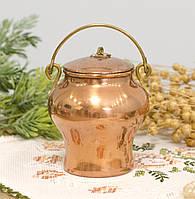 Медный бидончик в миниатюре, медь, латунь, Швеция, фото 1