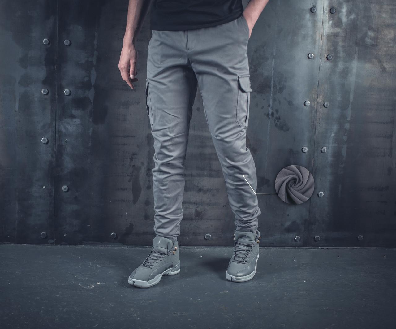 Теплые Карго штаны BEZET Grey '19