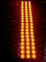 Светодиодный модуль Оранжевый Hitled smd 2835 3 диода линза IP65
