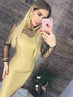 Женское красивое люрексовое платье (2 цвета), фото 1