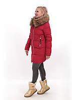 Зимняя куртка CLASNA с натуральным мехом енота, арт. CW17D-017CH(164)