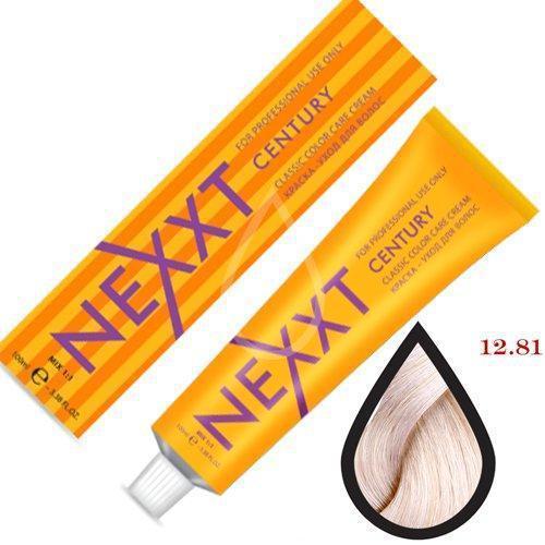 Крем-краска для волос Nexxt Professional 12.81 блондин махагоново-пепельный 100ml