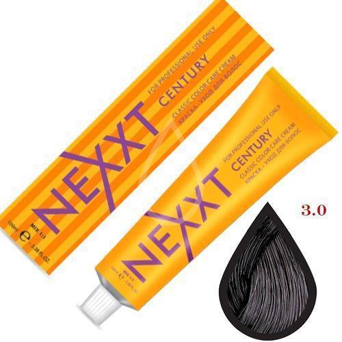 Крем-краска для волос Nexxt Professional 3.0 темный шатен 100ml
