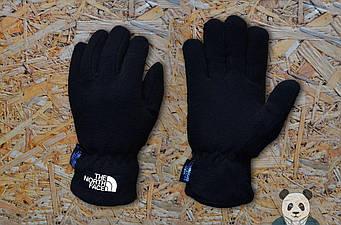 Теплые перчатки The North Face черного цвета (люкс копия)