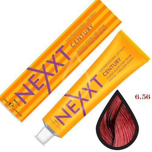 Крем-краска для волос Nexxt Professional 6.56 темно-русый красно-фиолетовый 100ml