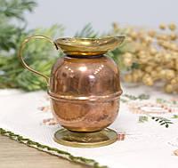 Коллекционный миниатюрный кувшинчик, медь, Европа, фото 1
