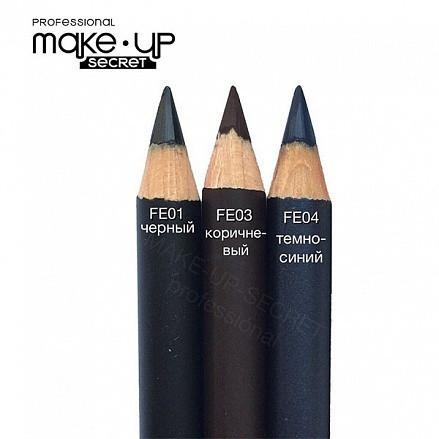 MakeUP Secret Ультрамягкий карандаш для глаз FЕ03 коричневый матовый