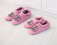Дуэт домашних тапочек светло розовых комфортов Старшая сестра и Младшая сестра