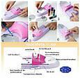 Набор машинка принтер штамп для дизайна ногтей стемпинга Голливудские ногти Hollywood Nails, фото 5