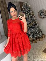 Женское шикарное кружевное платье, фото 1