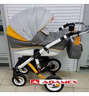 Коляска Adamex Gloria Raindbow Yellow