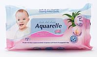 Детские влажные салфетки для лица и тела (екстракт алое) Aquarelle Kids 72шт