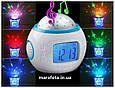 Часы-будильник с проектором звездного неба Music And Starry Sky Calendar, фото 4
