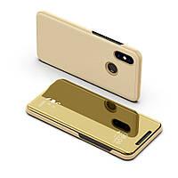 Чехол Mirror для Xiaomi Mi A2 Lite / Redmi 6 Pro книжка Gold