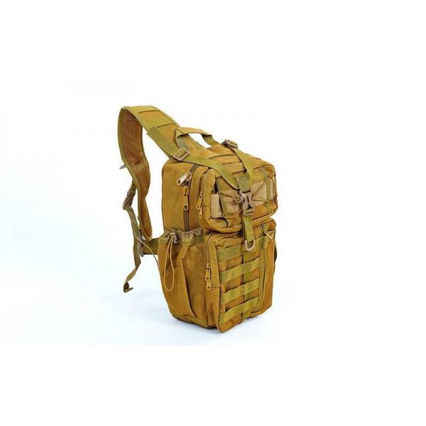 Рюкзак тактический патрульный однолямковый V-30л TY-5386 хаки  (42х25х20 см)