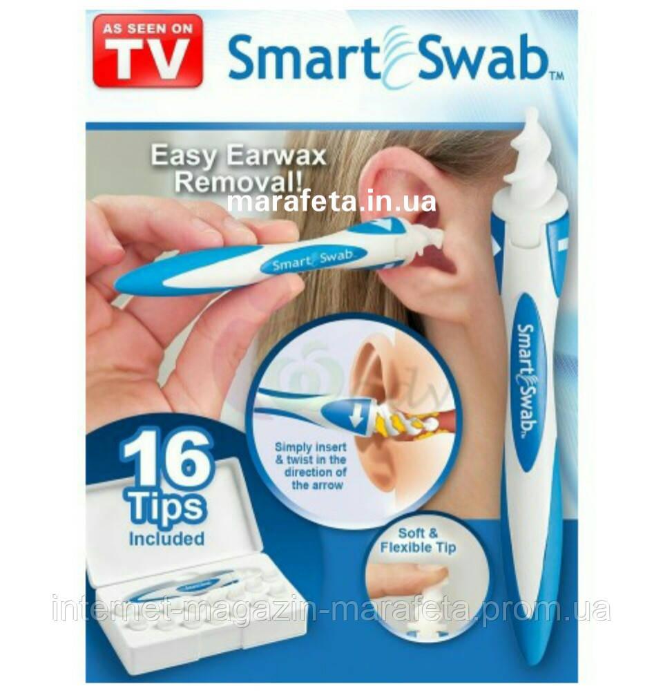 Прибор для чистки ушей Smart Swab-16 насадок