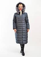 Зимнее пальто Snow Elbrus с натуральным мехом чернобурки, арт. 80042