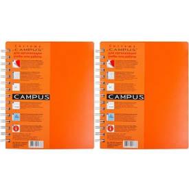 Блокнот А5 Campus рус 144 л. , 3 разд. , пласт. обл. , спираль оранжевый             СА5144-810о