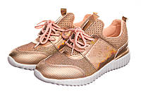 Кроссовки женские Shine 37 Розовые с золотым, КОД: 232701