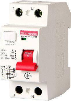 Выключатели дифференциального тока серии STAND тип АС