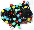 Новогодняя Светодиодная Гирлянда Нить Цветные Шарики 100 Led ч / п Мульти, фото 5