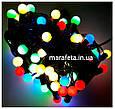 Новогодняя Светодиодная Гирлянда Нить Цветные Шарики 100 Led ч / п Мульти, фото 8
