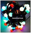 Новогодняя Светодиодная Гирлянда Нить Цветные Шарики 100 Led ч / п Мульти, фото 9