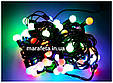 Новогодняя Светодиодная Гирлянда Нить Цветные Шарики 100 Led ч / п Мульти, фото 10
