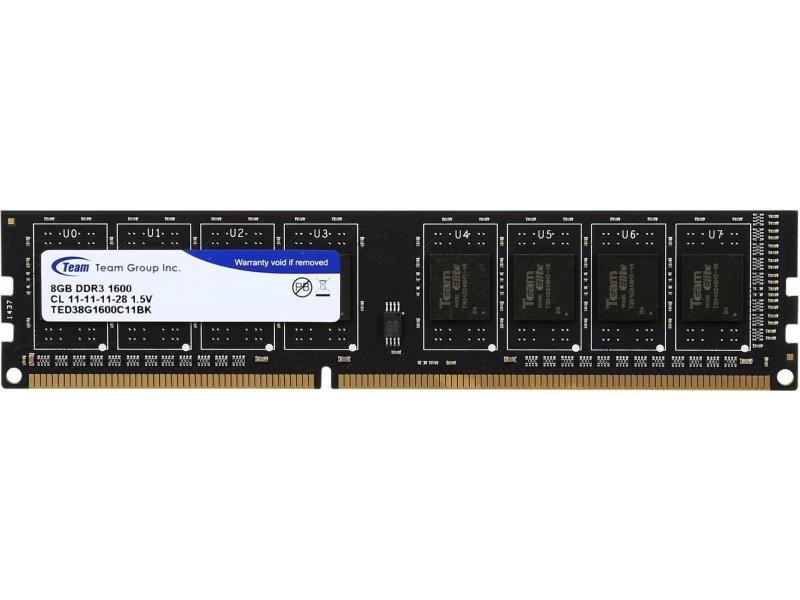 Оперативная память Team 8GB DDR3 1600MHz CL11 TED38G1600C11BK  Б/У