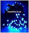 🌬Уличная Светодиодная Гирлянда Нить на Черном Проводе 100L Синяя с белым волшебным Мерцанием🌨, фото 3