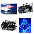 Новогодняя Светодиодная Гирлянда Нить на Елку Внутренняя 300 LED Синий ч / п, фото 2
