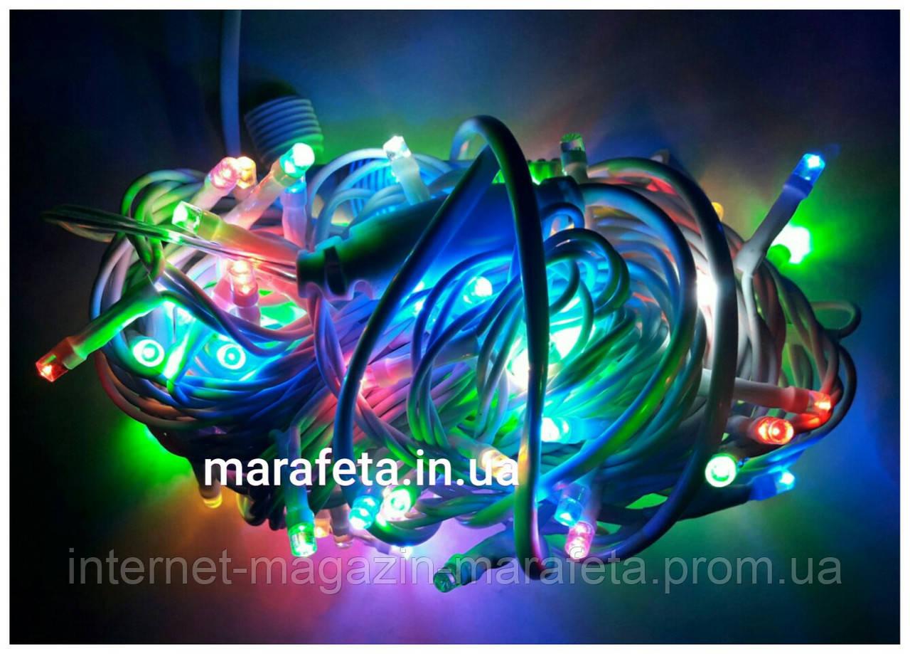 Новогодняя Уличная Светодиодная Гирлянда Нить на Елку 200 LED Мульти б / п