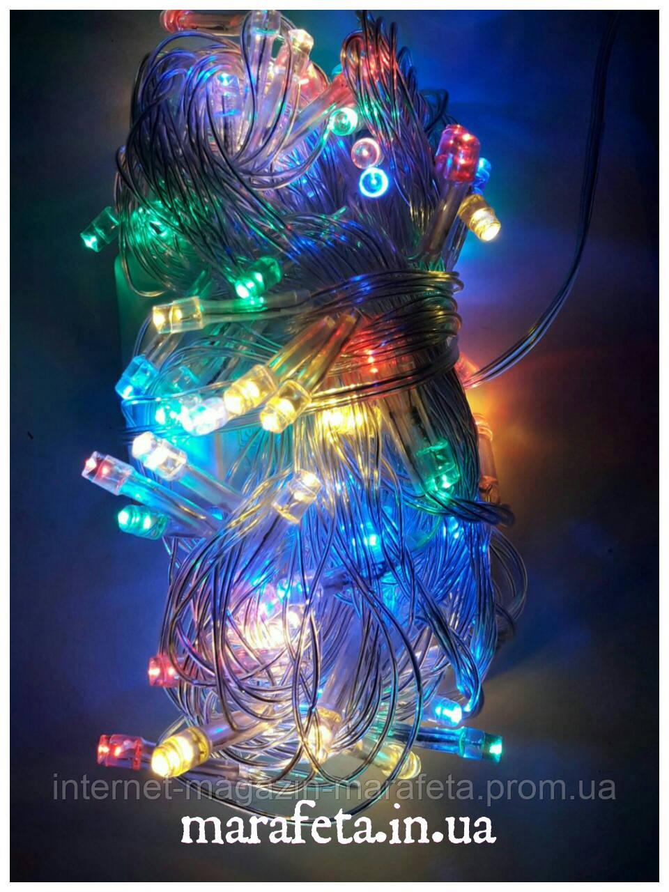 Новогодняя Светодиодная Гирлянда Нить на Елку Внутренняя 200 LED Мульти пр / п