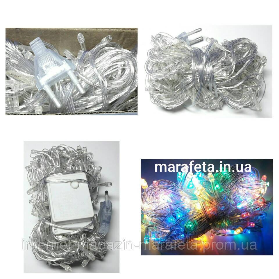 Новогодняя Светодиодная Гирлянда Нить на Елку Внутренняя 400 LED Мульти пр / п