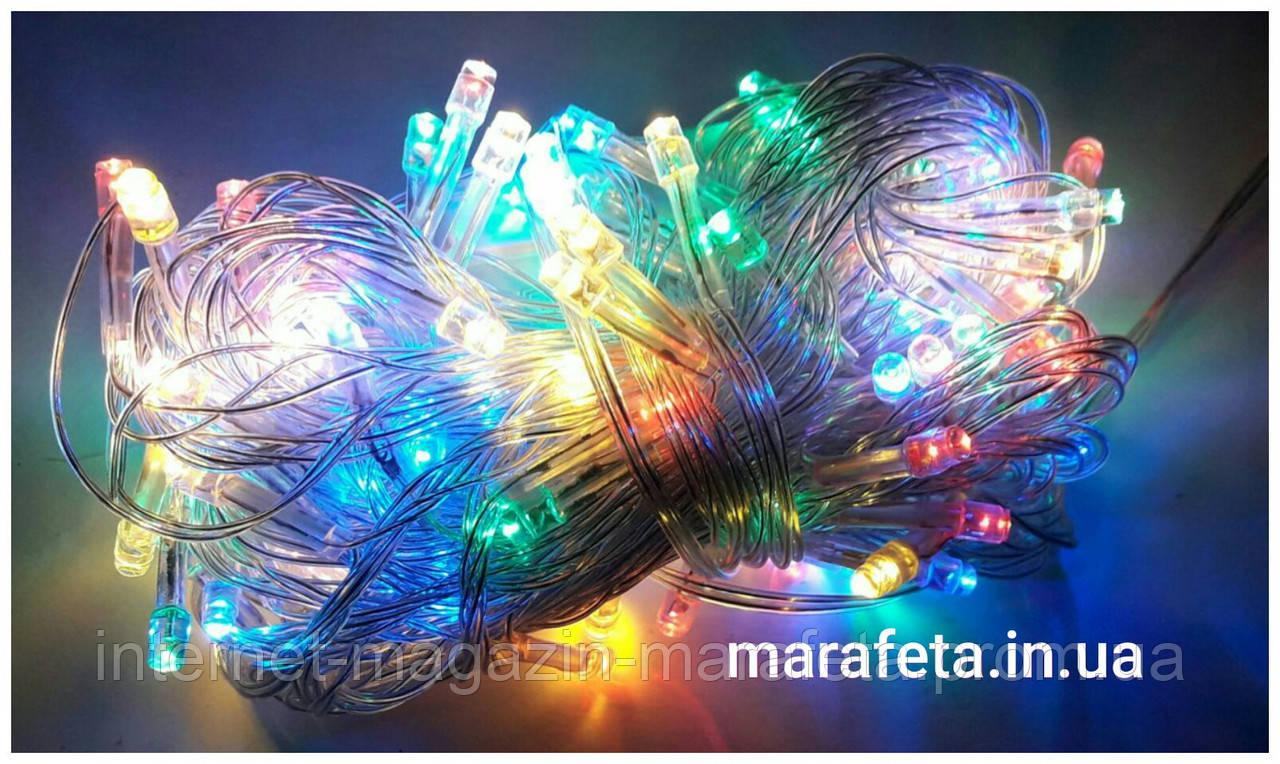 Новогодняя Светодиодная Гирлянда Нить на Елку Внутренняя 500 LED Мульти пр / п