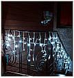 Новогодняя Светодиодная Гирлянда Бахрома 5м х 0.8м В160 LED Холодный Белый, фото 4