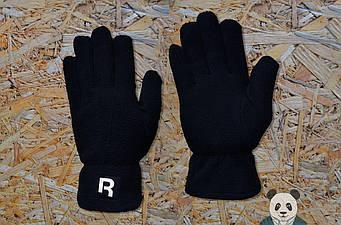 Теплые перчатки Reebok черного цвета (люкс копия)