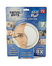 Зеркало с увеличением и подсветкой Swivel Brite