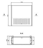 Корпус пластиковий Z-1AW, чорний (68х176х172), фото 5