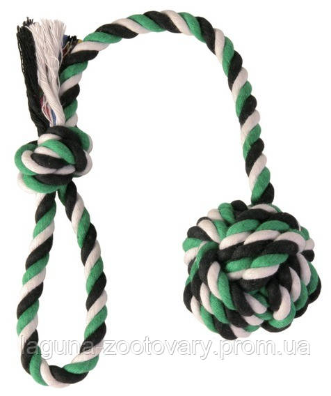 Мяч на веревке для собак  5,5см/30см