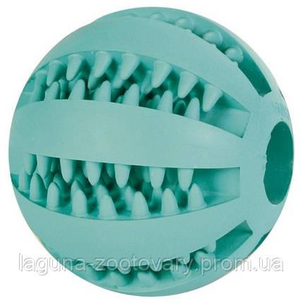 """Игрушка """"Мяч бейсбольный с мятой"""" 5см для собак, резина, фото 2"""