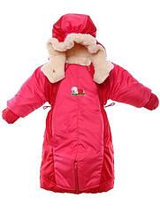 Детский комбинезон трансформер до 90 см Красный с коралловым, КОД: 305295