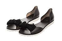 Балетки женские Rubbe 37 Черные, КОД: 236939