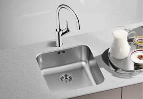 Мойка Blanco Supra кухонная 400-U под столешницу из нержавеющей стали