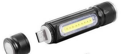 Фонарь ручной Police BL-517/616-T6-COB, zoom, встроен.аккум., ЗУ USB, магнит PR2, фото 2